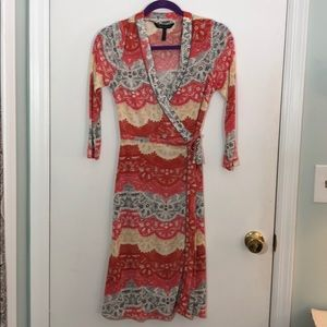 BCBG Maxazria  3/4 sleeve wrap dress.